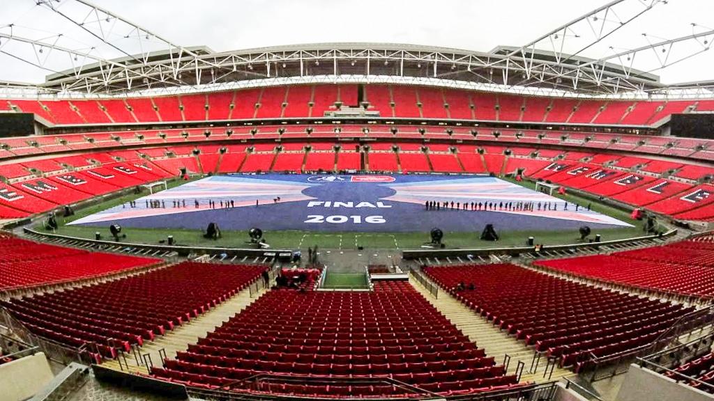 Europas absolut största textila vepa på FA-cupfinal Wembley