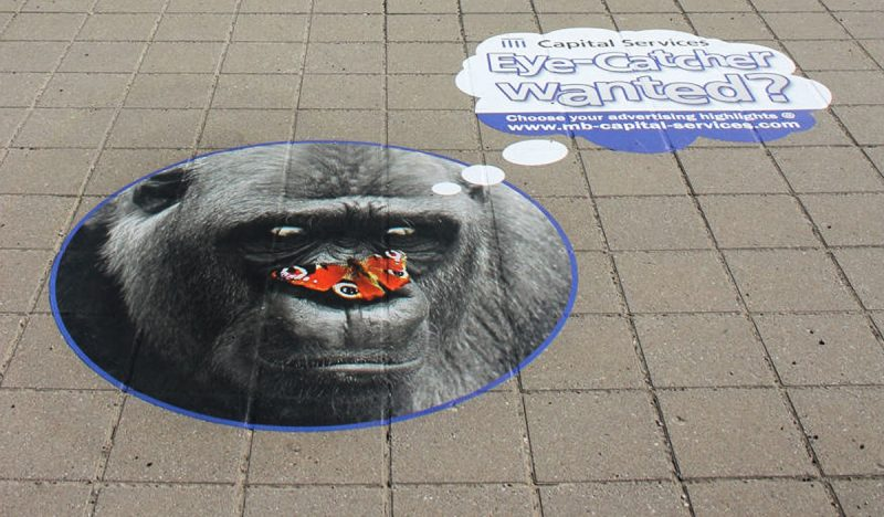 Reklamdekal asfalt